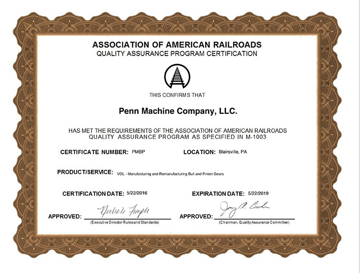 AAR certification